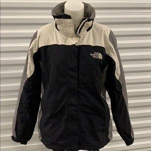 The North Face HyVent black & grey raincoat/jacket